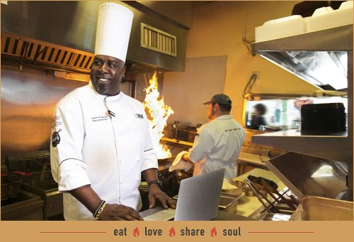 Chef Keith M. Taylor in his soul kitchen
