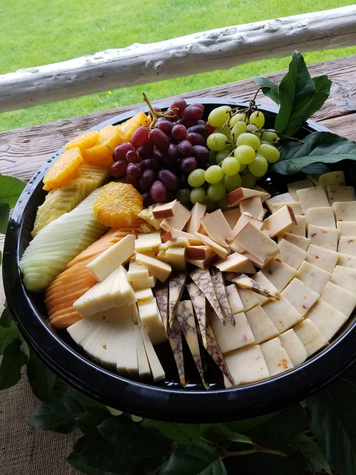 Fruit-cheese-display