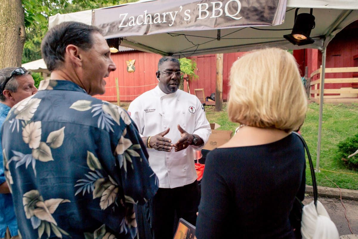 Zacharys BBQ-Soul-catering-chef sharing